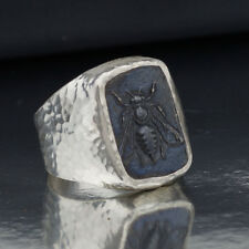 925 Sterling Silver Bold Collection By Omer Bee Coin Men's / Unisex Ring