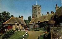 Isle of Wight England 1976 Godshill Church Kirche Cottage Haus Turm Tower City