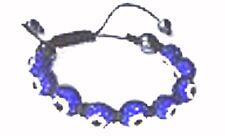 BLUE Evil Eye Protection Bracelet Shamballa Crystal Disco Balls Kabbalah #2750