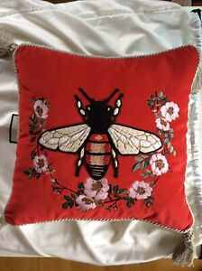 GUCCI CUSHION AUTHENTIC DESIGNER NEW BEE EMBROIDERED RP:£695