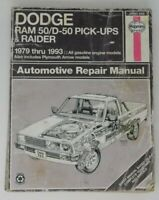 1979-1993 DODGE RAM 50 TRUCK SERVICE MANUAL HAYNES REPAIR SHOP BOOK