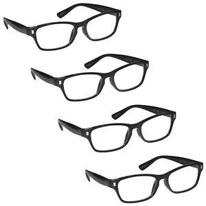 Mens Womens Reading Glasses 4 Packs UV Reader RRRR77