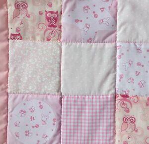 Baby Girl Pink Patchwork Quilt Handmade