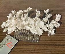 Haarkamm mit Blüten, Brautschmuck, Kopfschmuck, ceme, ivory. elfenbein, Vintage