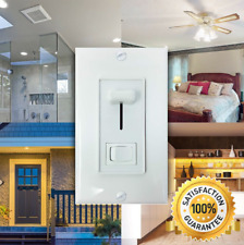 Adjustable Light Dimmer Switch for LED, Halogen, or CFL Lamps - w/ Wall Plate
