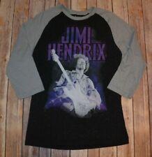 Rocking Artwork Jimi Hendrix Black Gray Purple 3/4 T-Shirt Size Medium
