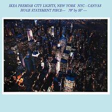 "IKEA Premiar SALE 78""x55""City Lights""New York NYC NEW~Canvas INCL Frame PREMIÄR"
