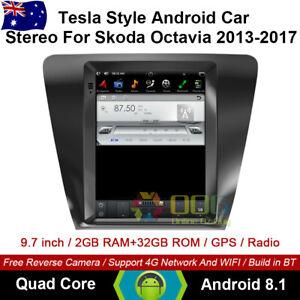 "9.7"" Android 8.1 Car non dvd Player Tesla Style GPS For Skoda Octavia 2013-2017"
