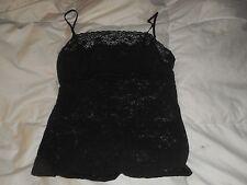 Victoria's Secret Black Lace Cami Top Lingerie Size Medium Used