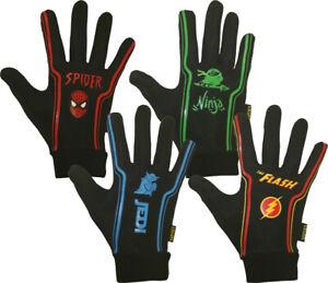 Mini/Junior/Kids Long/Full Fingered Rugby Grip Fleece Lined Themed Gloves/Mitts