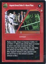 Star Wars CCG Coruscant Rare Imperial Arrest Order & Secret Plans