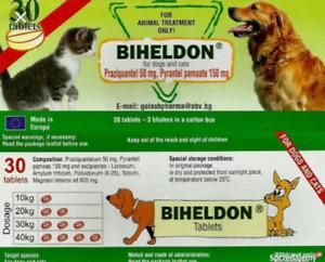 30 Tabs Dog and Cat Wormer, Spectrum Dewormer, Entwurmung von Hunden und Katzen