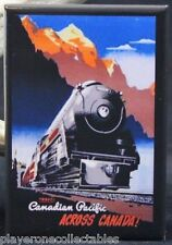 Canadian Pacific Vintage Train Travel Poster Fridge / Locker Magnet. Canada