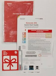 Nintendo 3DS XL 'New' style manuals, and documents only.NO CONSOLE INCLUDED.