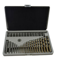 35pc Master Bolt Extractor Set and 119pc Metric Drill Bit Kit M35 Quality