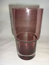 Vase Purple Vintage Original Scandinavian Art Glass