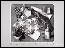MC Escher Reptilien Poster Kunstdruck mit Alu Rahmen in schwarz 50x70cm