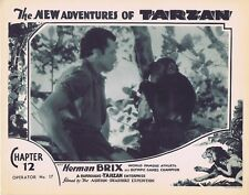 NEW ADVENTURES OF TARZAN 1935 Herman Brix Chapter 12 VINTAGE SERIAL Lobby Card 5