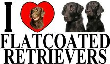 I LOVE FLATCOATED RETRIEVERS Dog Car Sticker By Starprint - Ft. the Flatcoat