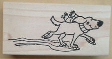 Mounted Rubber Stamps, Stamping, Dog Stamps, Ice Skating Dog, Winter Dog, Dogs