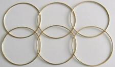 "6 x 5"" Brass Coated Dreamcatcher/Macrame Craft Hoop/Ring & Free Waxed Cord"