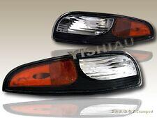 97-04 CHEVY CORVETTE BUMPER SIGNAL LIGHTS AMBER REFLECTOR Z06 BLACK HOUSING