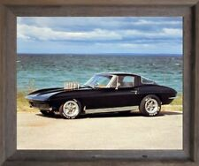 1963 Corvette Coupe Classic Vintage Car Barnwood Wall Decor Framed Picture 19x23