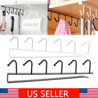 Hook Rack 6 Hooks Kitchen Cupboard Closet Hanger Clothes Towel Cup Hanging Tool