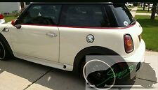 Mini Red out De-chrome beltline tape all models. Cooper, JCW, GP - Chilli RED