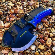 "10.5"" Hunt-Down Axe Throwing Hatchet Gut Hook Serrated Edge Rubber Grip W/ Sheat"