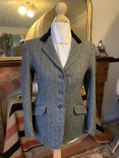 Girls Caldene Size Maids 30 Blue/Grey Rust Overstripe Tweed Show/Hacking Jacket