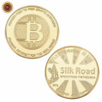 WR 24K Gold Bitcion Physical BTC Coin Silk Road Commemorative Coin Collectibles