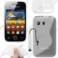 Housse Etui Coque Silicone Transparent Samsung Galaxy Y S5360 + Mini Stylet