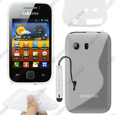 Housse Etui Coque Silicone Transparent Samsung Galaxy Y S5360 + Mini Stylet