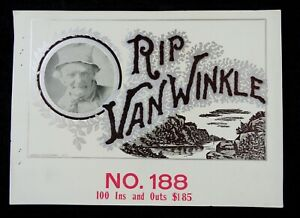 Rip Van Winkle - Sample Cigar Box Label