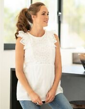 Seraphine Broderie Anglaise Cotton Maternity And Nursing Top