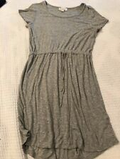 Gray Size Medium Tshirt Dress Drawstring Waist Womens Ladies  Olive And Oak