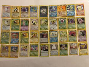 X 36 Vintage Pokémon Holo & Rare Lot, NM/M! Raichu, Nintendo Gamefreak! HOT!
