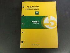 John Deere 32,36,48 &52 Inch Commercial Walk-Behind Mowers Tech Man TM-1305  '88
