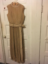 *VINTAGE* 1970s Gold Glitter Sparkly Disco Full Length Gown Long Dress