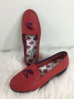 KEDS Grasshoppers Red Hat Society Leather Loafers Shoes Sandals Womens Sz 7.5 W