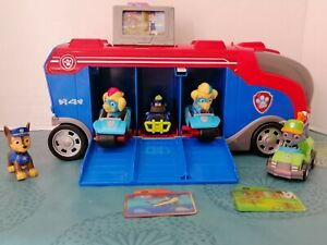 Paw Patrol Mission Cruiser + Rocky + Twins + Chase Pups Mini Vehicles + 3 cards