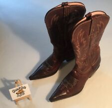 Charlie 1 Horse By Lucchesse western cowboy boots brown leather 10 B I4513