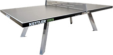 New listing Kettler Eden Weatherproof Stationary Outdoor Table Tennis Table with Galvanized