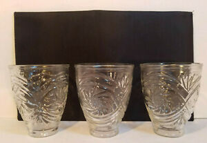 Lot Of 3 Replacement Ceiling Fan Light Globes Clear Glass w/Etched Sunflowers