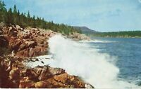 Postcard Surf Along Ocean Drive Bar Harbor Maine