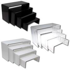 More details for nesting plinths acrylic retail riser counter exhibition display stand shelves