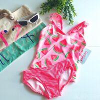 Cat & Jack Swimsuit Girls  Pink Watermelon Time Bikini 2 Piece Set