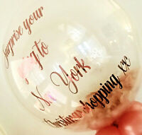 Personalised Feather Filled Helium Inflated Balloon Birthday Baby Shower Wedding
