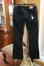 BABY PHAT PANTS SOLID BLACK BOOT CUT JUNIORS SIZE 0 EXCELLENT